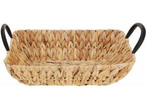 Pletený košík z vodního hyacintu 8x33x23,8 cm