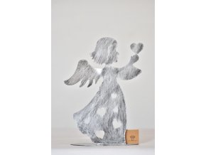 Svícen anděl stříbrný 27,5 cm