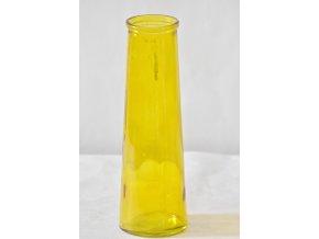 Skleněná váza ANNA žlutá 25x8 cm, II.jakost