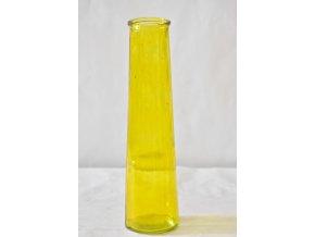 Skleněná váza ANNA žlutá 35x9 cm, II. jakost