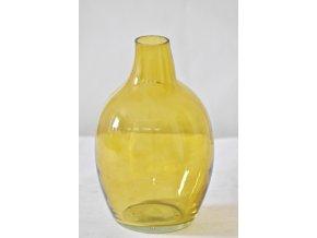 Skleněná váza 18x12 cm, jantarová, II. jakost