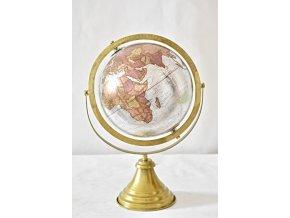 Otočný globus stříbrný 38 cm, II. jakost