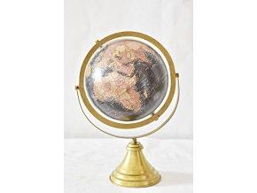 Otočný globus černý 38 cm, II. jakost