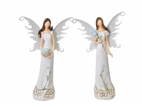 Anděl Myo s kovovými křídly 16 cm