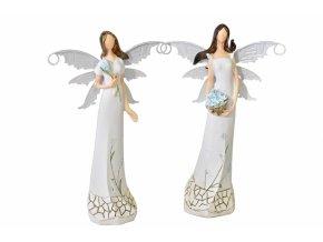 Anděl Myo s kovovými křídly 22 cm