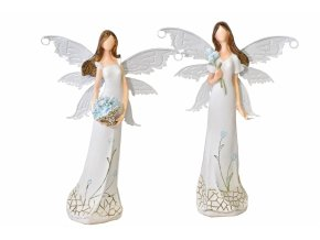 Anděl Myo s kovovými křídly 28,5 cm