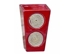 Keramická vánoční květináč 11,8x7,5x7,5 cm