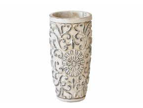 Cementový květináč - váza Ornament 30x15 cm