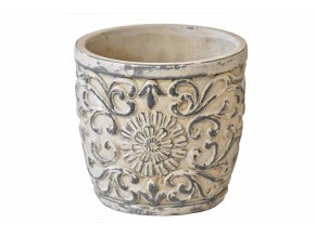Cementový květináč Ornament 16x17,5 cm