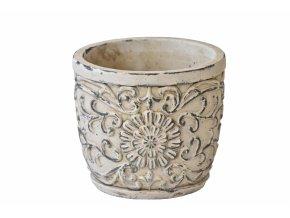 Cementový květináč Ornament 13x15 cm