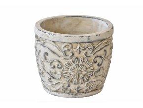Cementový květináč Ornament 11x13 cm