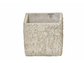 Cementový květináč Betula 10x11,5x11,5 cm
