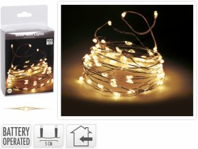 Světelný řetěz 500 cm, 100 LED teplé bílé světlo