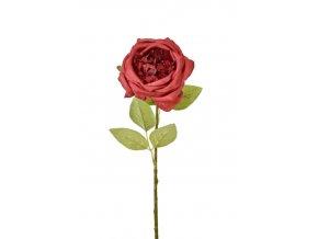 Umělá anglická růže červená, 50 cm