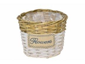 Proutěný košík Flowers 13,5x18 cm