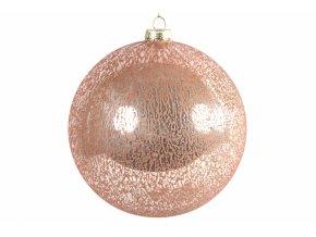 Růžová vánoční baňka Yana XL, II.jakost