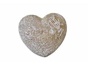 Srdce S láskou spomíname 7x6,5x3,5 cm (SK)