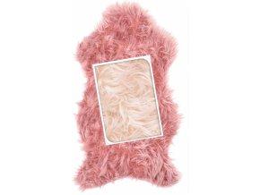 Umělá kožešina světle růžová 50x90 cm