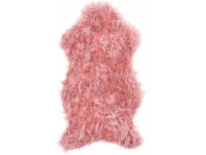 Umělá kožešina tmavě růžová 50x90 cm