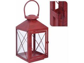 Kovová lucerna Red metal 36x19,5x18,5 cm