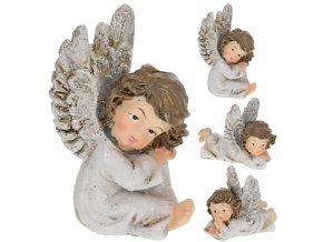 Dekorativní anděl s glitry, mix druhů