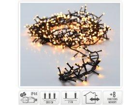 Světelný řetěz 400 LED 8 m, teplá bílá