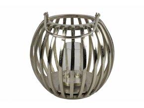 Hliníkový svícen Macey stříbrný 34x34 cm