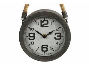 Kovové hodiny Alban s jutovým provazem k zavěšení