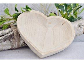 Dřevěné srdce Paulownia M, 27,5x27,5x5 cm