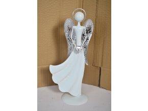 Plechový anděl Jasmine 31,5cm