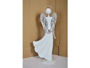 Plechový anděl Jasmine 41,5cm