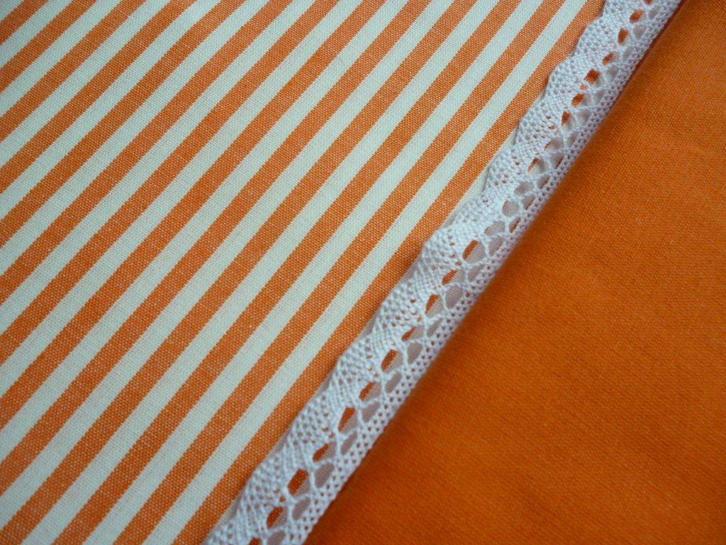 P1040246 proužek s oranžovou a krajkou oranž