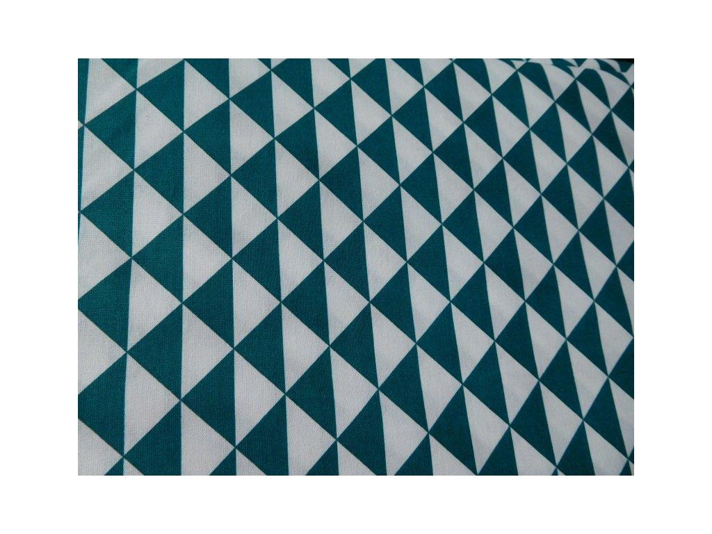 Petrolejové a bílé trojúhelníky - metráž