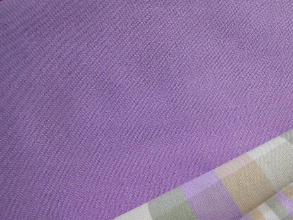 kanafas fialova jednobarevna