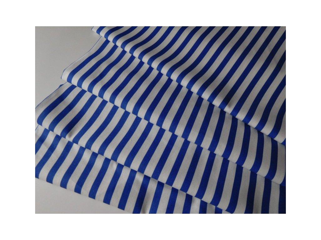 Proužek střední-bílo modrý - metráž