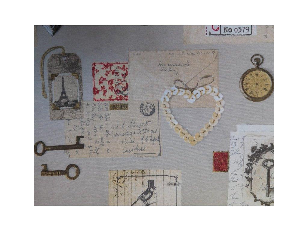 Dopis ze srdce-směsová látka-potahová látka-metráž