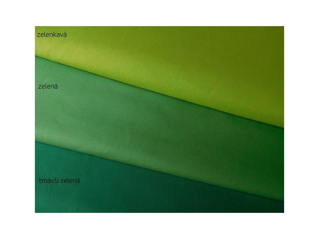 Tmavší zelená-jednobarevná látka-metráž