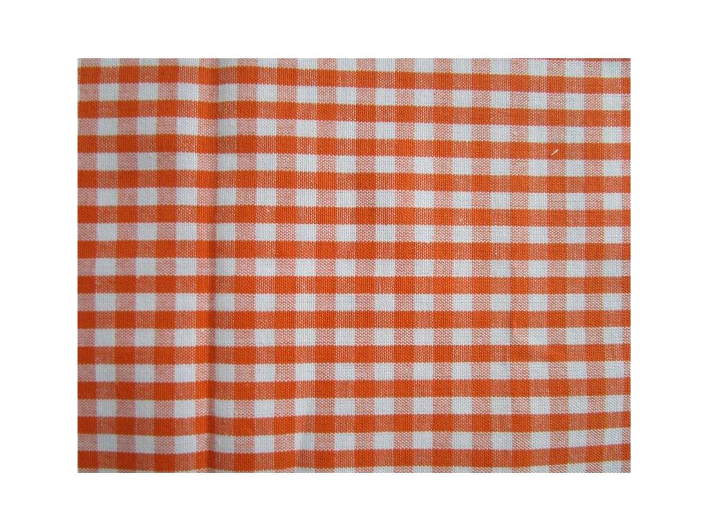 ZBYTEK - Balíček - Kanafas kostka 0,5cm metráž - oranžová látka - plátno - bavlna