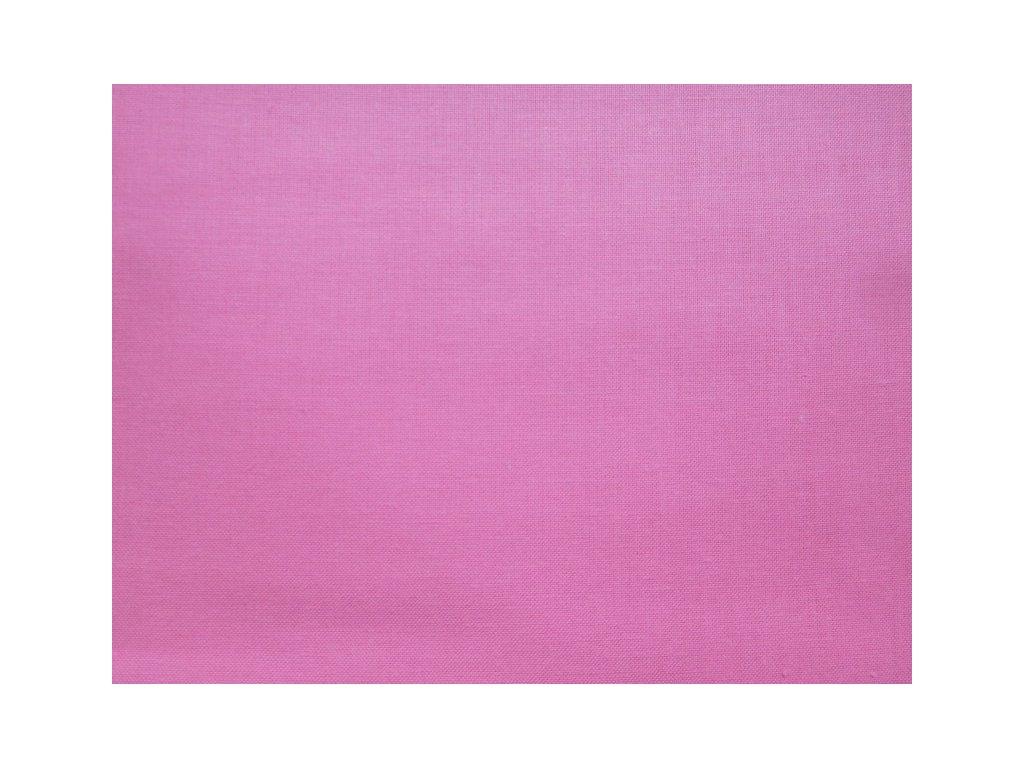 Růžová látka - plátno - bavlna - metráž