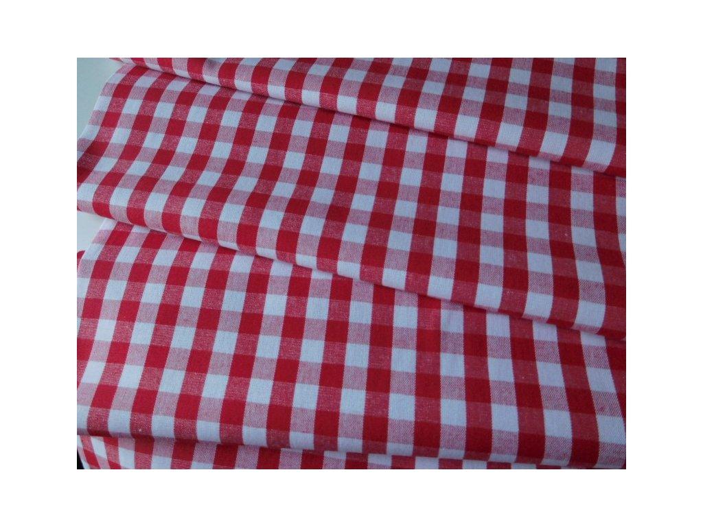 Kanafas metráž kostka 1cm  - červená látka - plátno