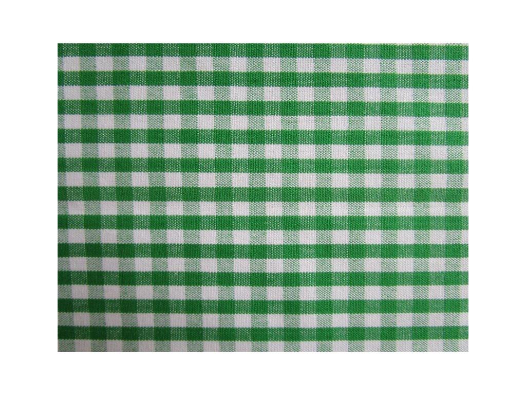 Kanafas kostka 0,5cm metráž - zelená látka - plátno - bavlna