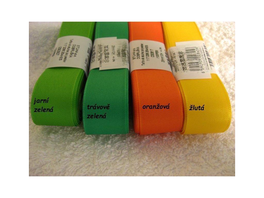 Stuha taftová 9mm - různé barvy