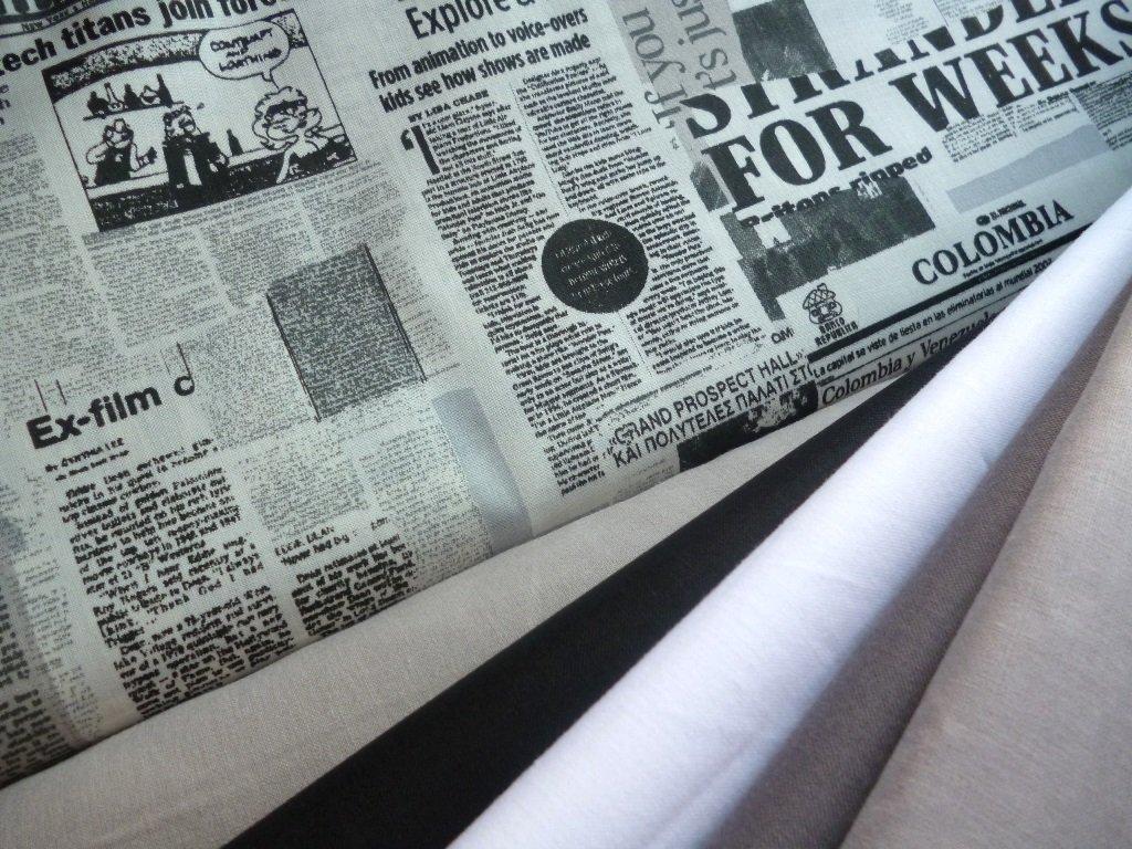 novinovy tisk retro kombinace