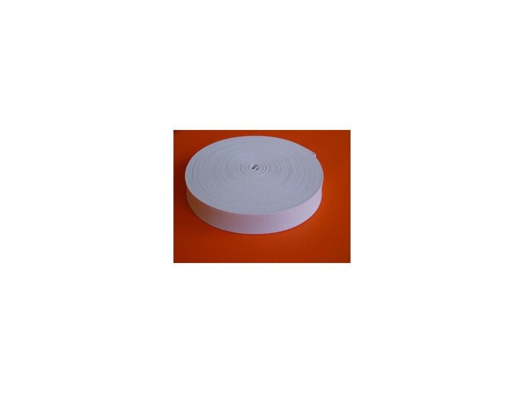Pruženka plochá 15mm - guma - bílá