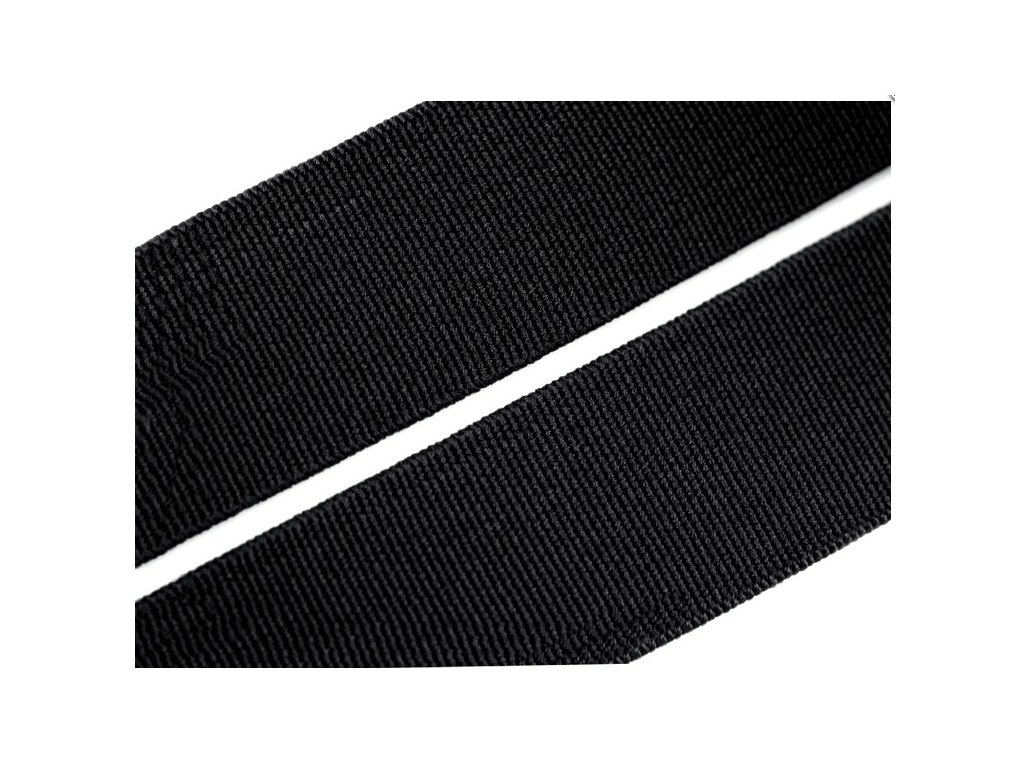 Pruženka plochá 30mm - guma - černá