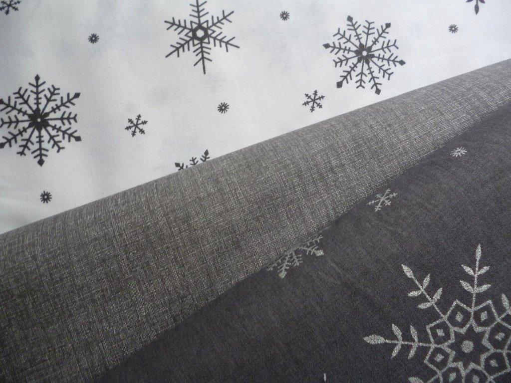 P1050168 šedé vločky na tmavšé šedé kombinace s obrácenými vločkami