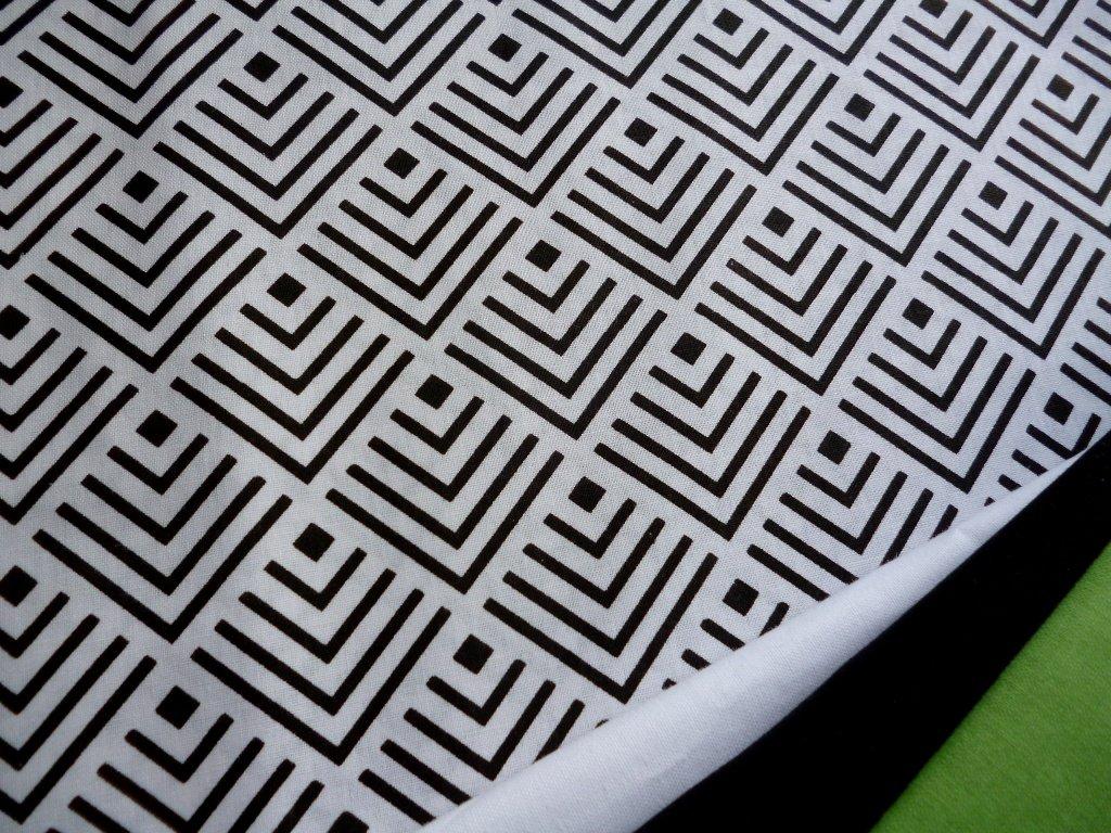 sipky ctverecky geometricky vzor cerna kombinace5