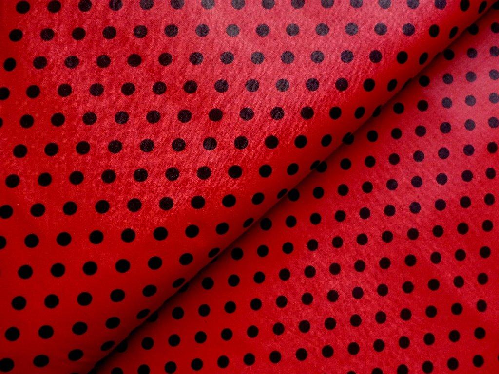cerne puntiky cervena latka sam