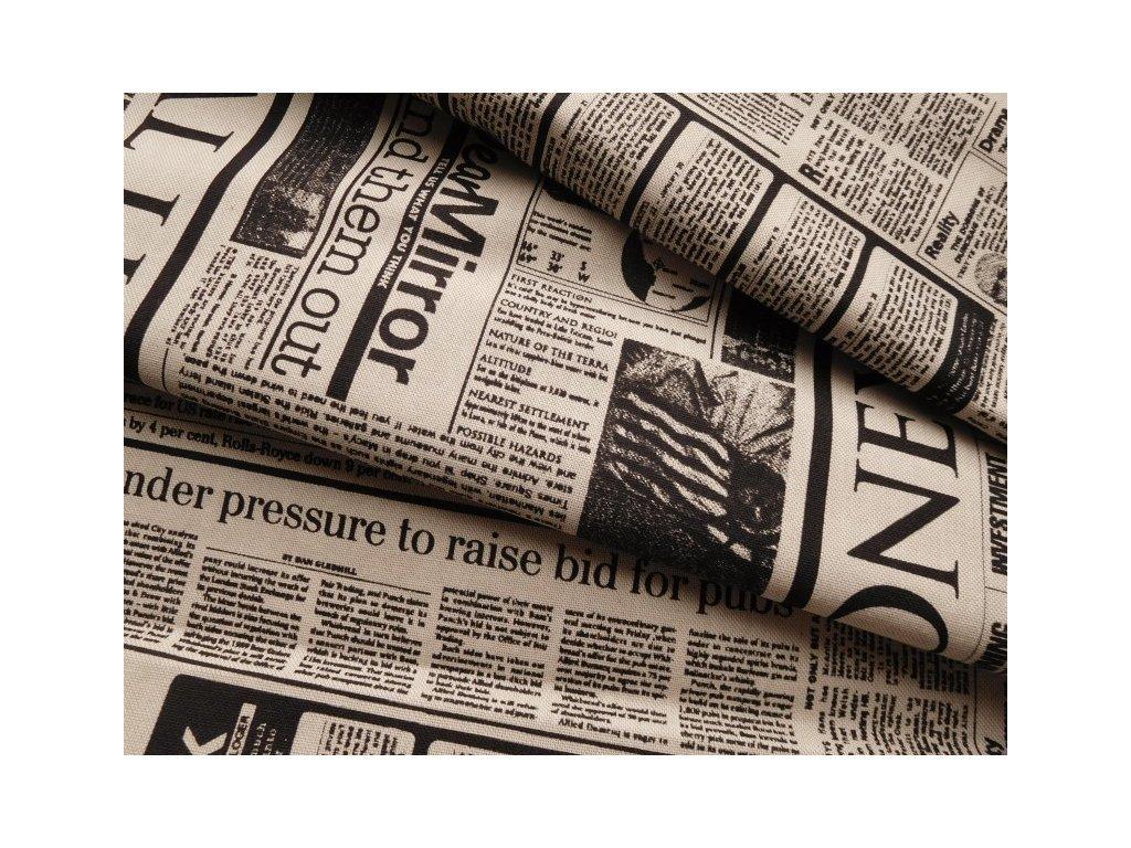 noviny cerny tisk rezna latka