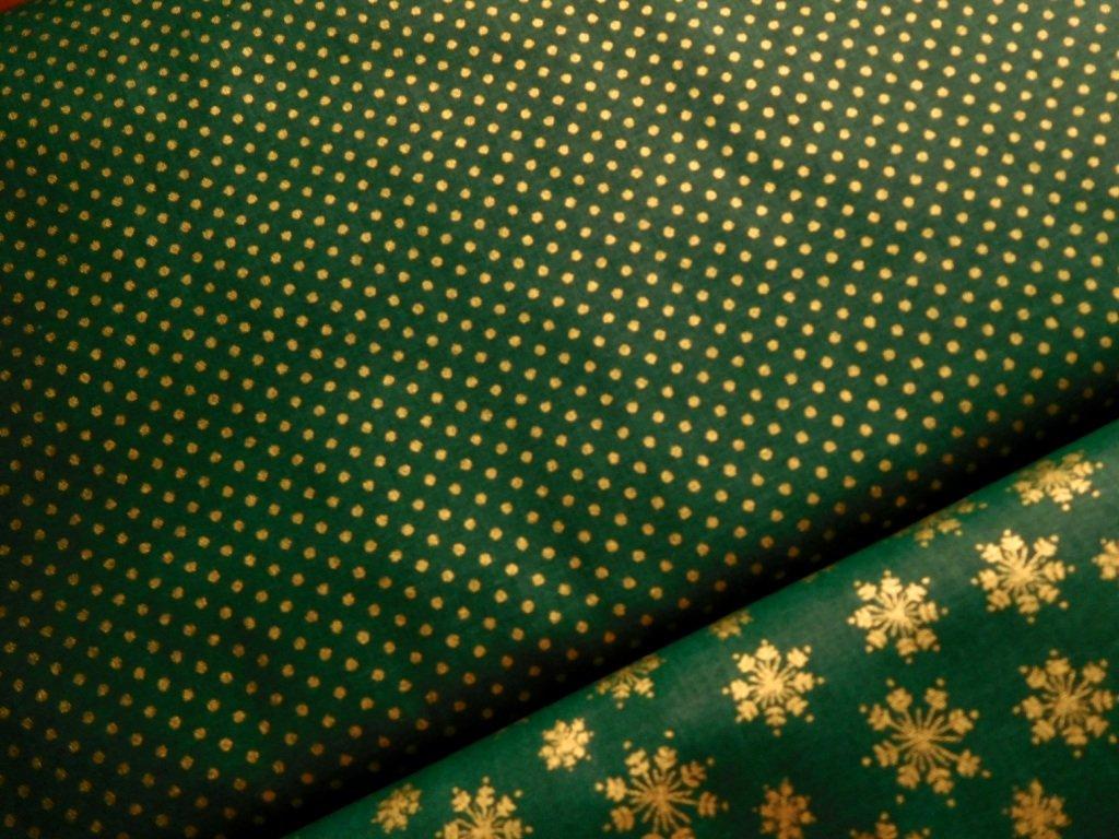 zlate punticky zelena latka